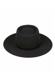 Lack Of Colour Velveteen  Boater Hat - Front cropped