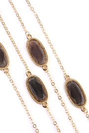 Riah Fashion Lacquer-Oval-Shape Necklace - Front full body