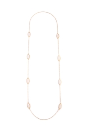 Riah Fashion Lacquer-Oval-Shape Necklace - Front cropped