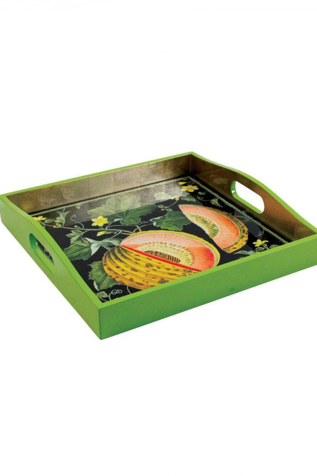 Caspari Lacquer Wooden Tray - Front Full Image