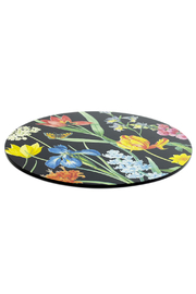 Caspari Lacquered Wood Placemat - Front full body