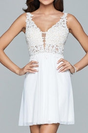 Faviana Lacy Beaded Dress - Front cropped
