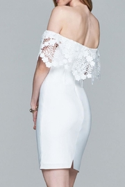 Faviana Lacy Off-Shoulder Dress - Side cropped