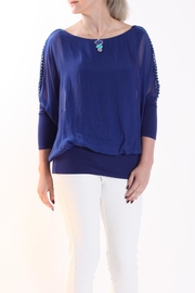 Talk of the Walk Ladder Sleeve Blouse - Product Mini Image