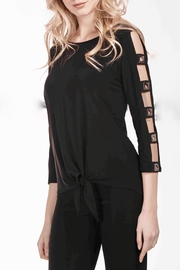 Frank Lyman Ladder Sleeve Top - Front cropped