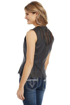 Cripple Creek Ladies Leather Vest - Alternate List Image