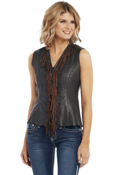Cripple Creek Ladies Leather Vest - Product List Image
