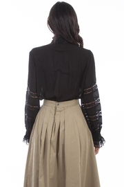 Scully  Ladies Poet Blouse - Front full body