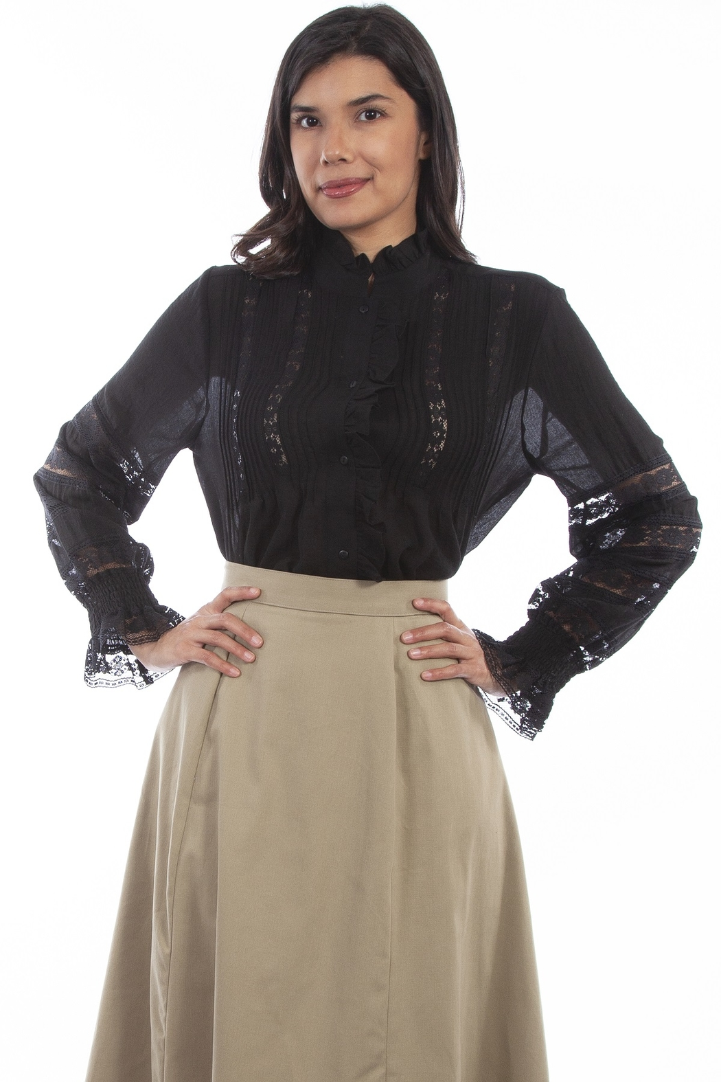 Scully  Ladies Poet Blouse - Front Cropped Image