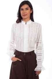 Scully  Ladies Poet Blouse - Front cropped