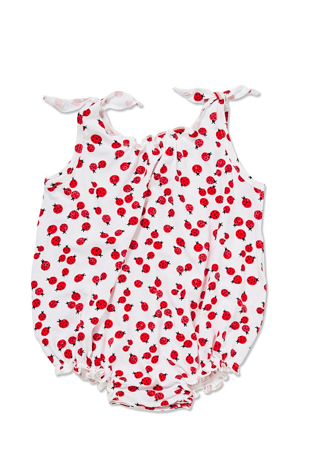 Angel Dear Lady Bugs Smocked Bubble - Front Cropped Image