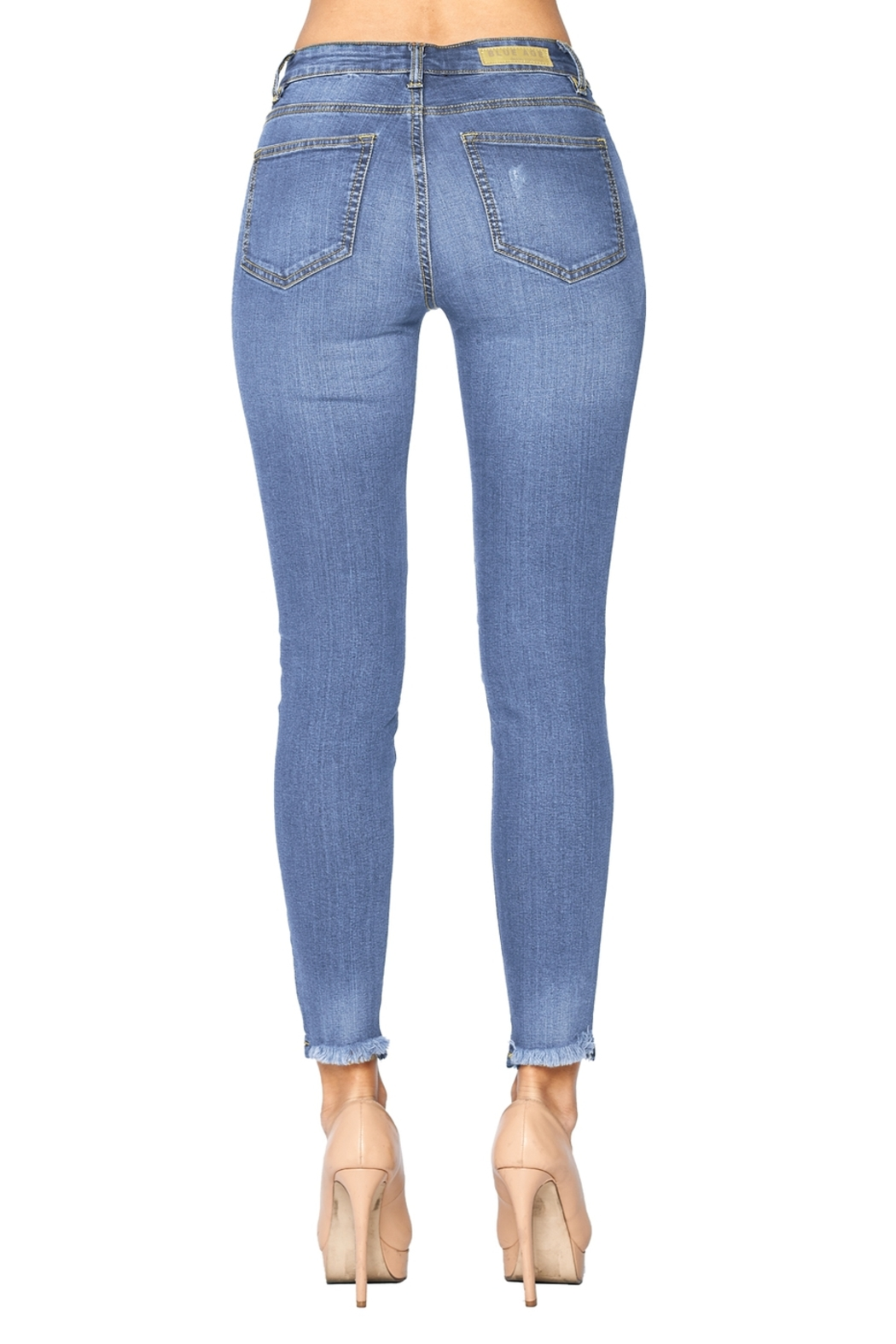 Lyn-Maree's  Lady frayed Hem Ankle Skinnies - Front Full Image