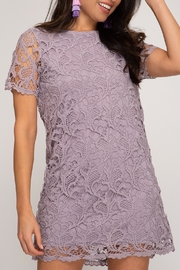 She and Sky Lady In Lace Dress - Front cropped