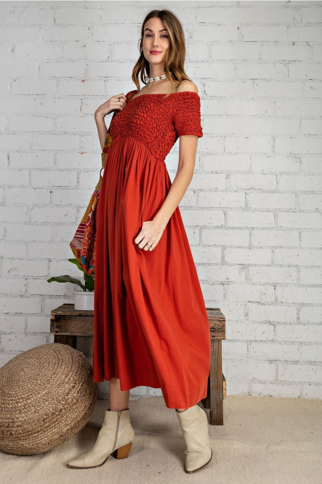 Easel  Prettiest Maxi Dress with Pockets - Main Image