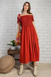 Easel  Prettiest Maxi Dress with Pockets - Side cropped
