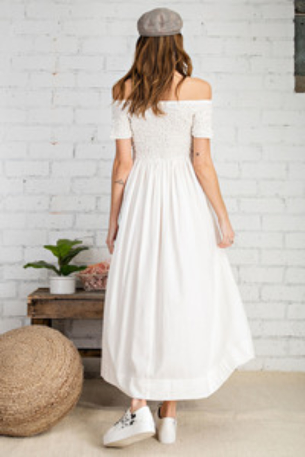 Easel  Prettiest Maxi Dress with Pockets - Front Full Image