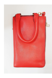 KIMBALS Lady in Red Small Tote Bag - Front full body