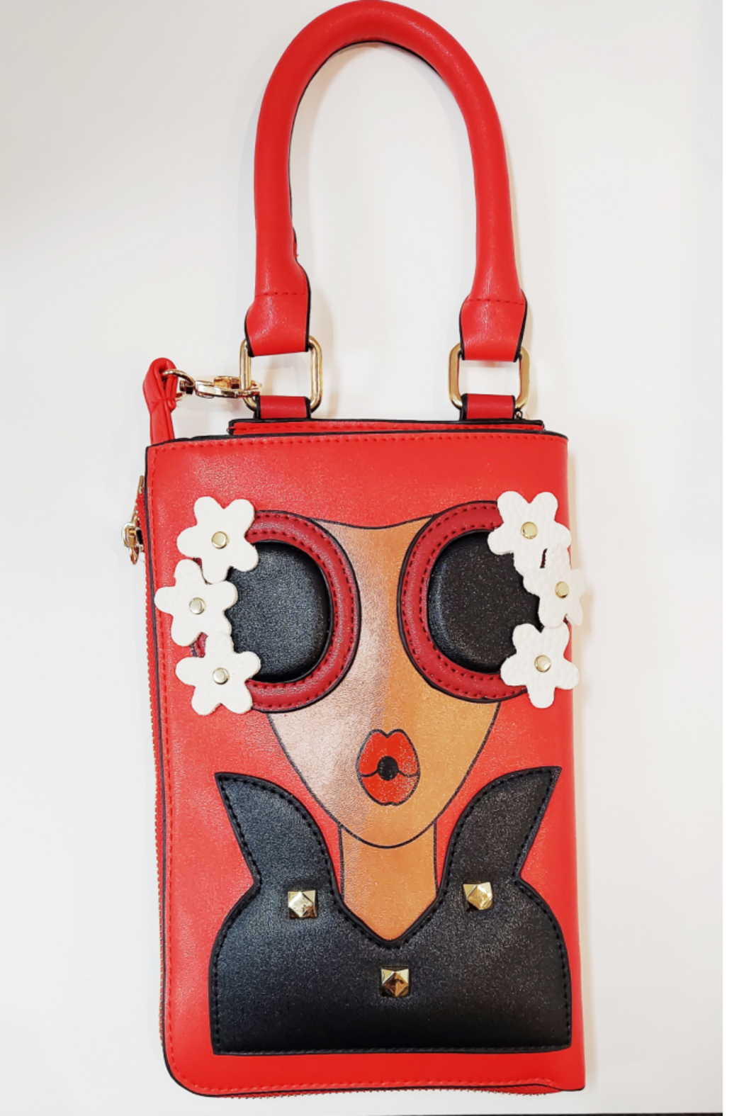 KIMBALS Lady in Red Small Tote Bag - Main Image