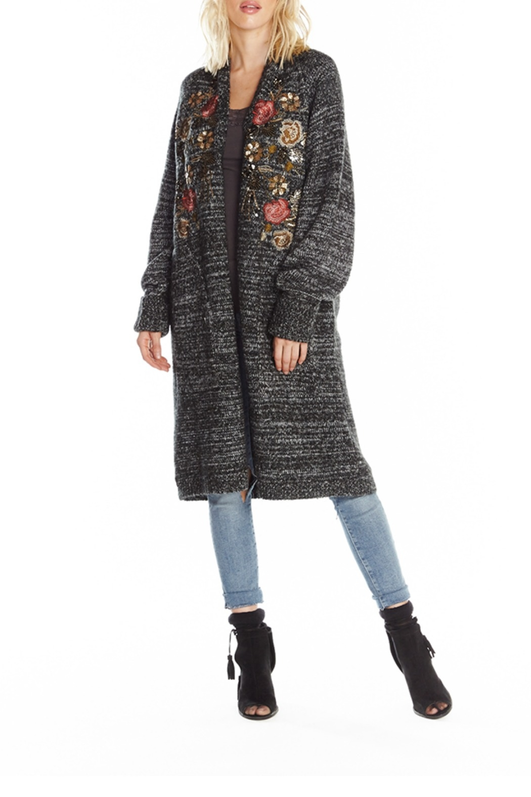 Aratta Lady May Sweater Long Cardigan - Front Cropped Image