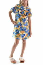 Lady's World Orange Floral Dress - Product Mini Image