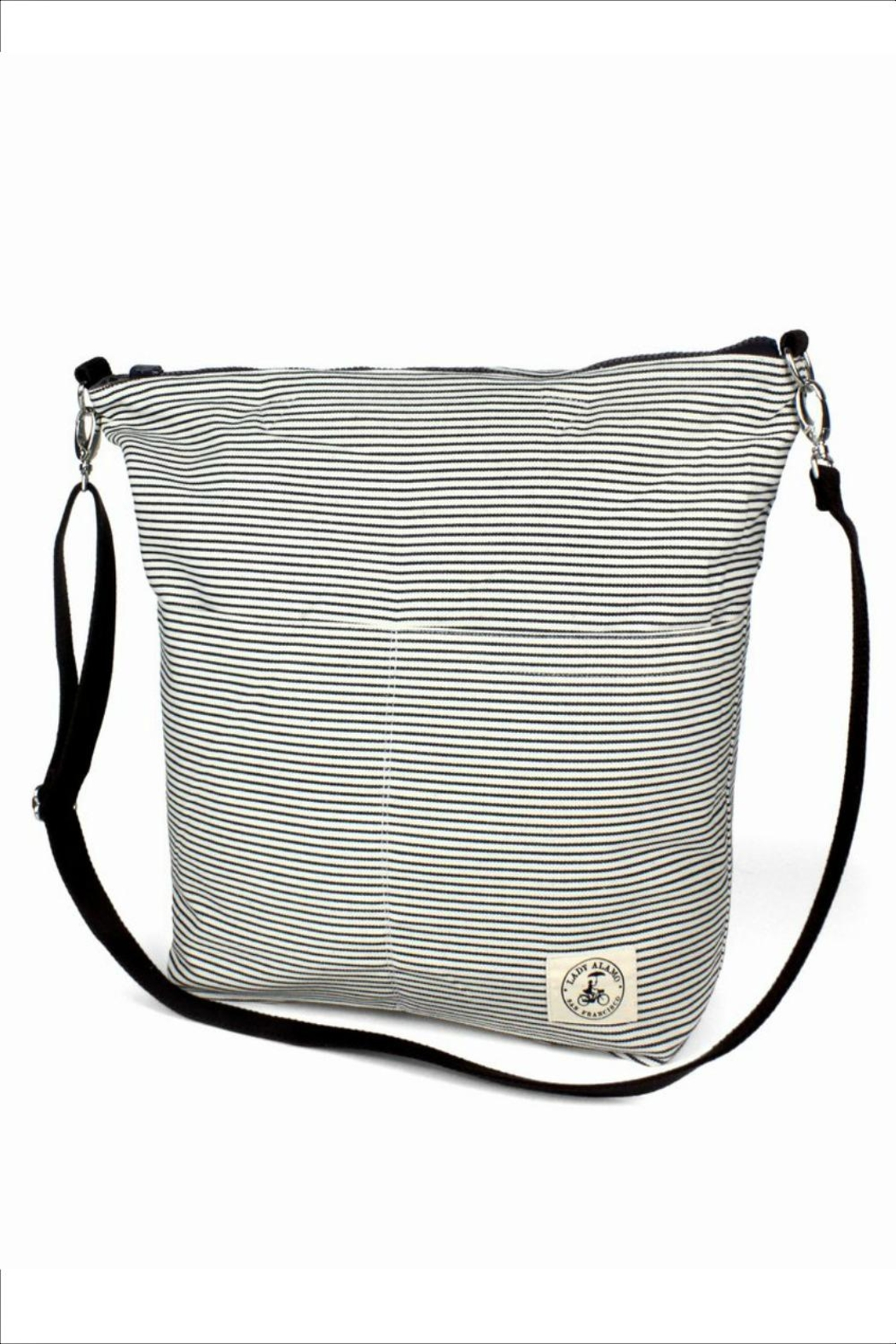 Lady Alamo Reversible Tote-Crossbody Charcoal - Front Full Image