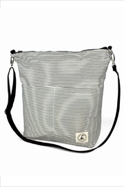 Lady Alamo Reversible Tote-Crossbody Charcoal - Front full body