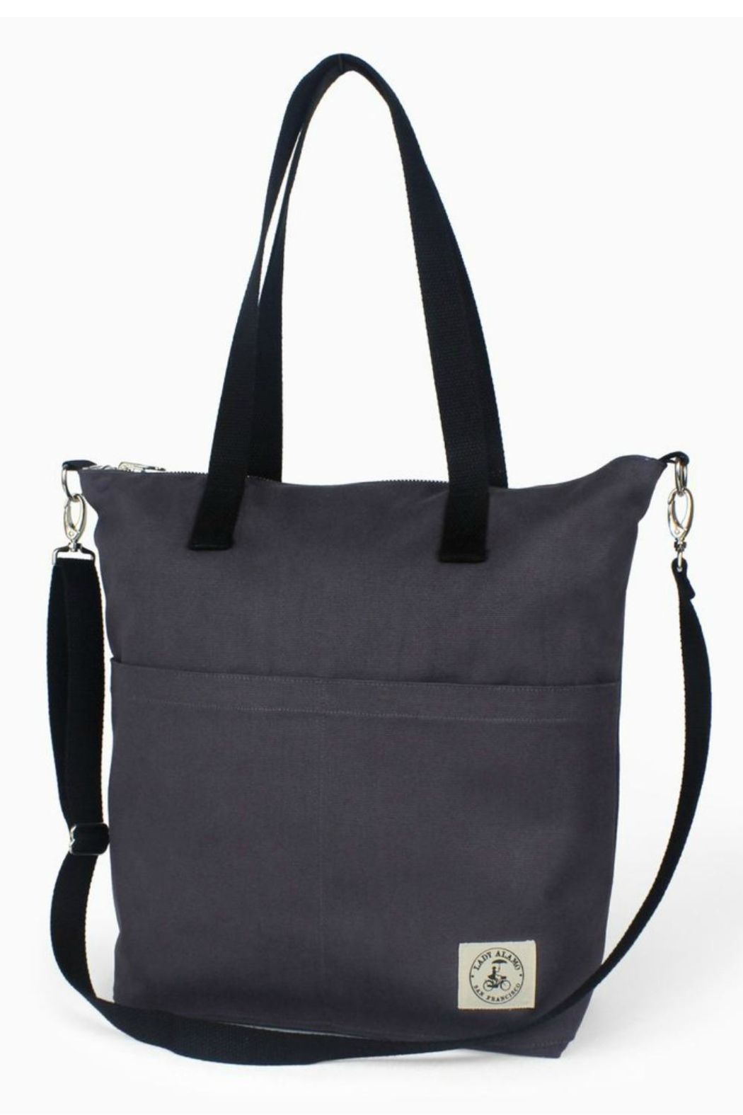 Lady Alamo Reversible Tote-Crossbody Charcoal - Main Image
