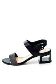 Lady Doc Black Ankle-Strap Block-Heel - Product Mini Image