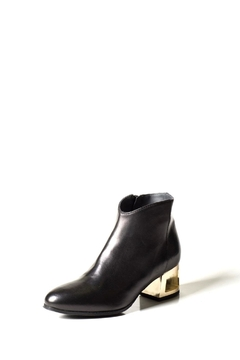 Shoptiques Product: Black Cut-Out Ankle-Boot