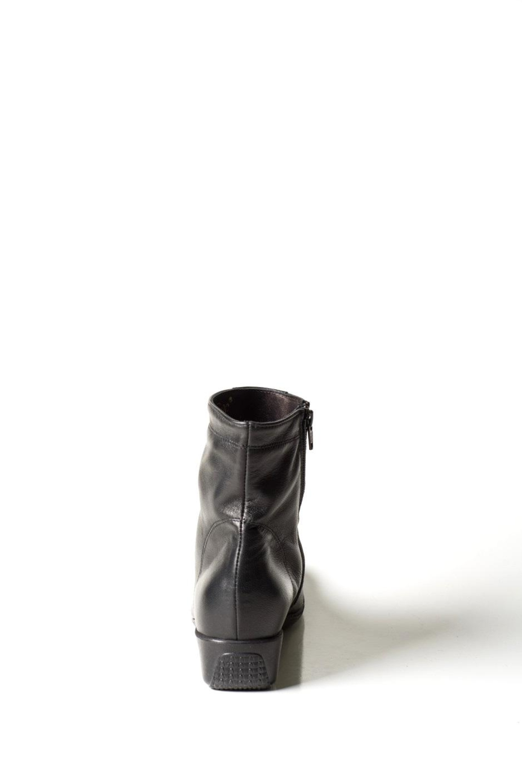 Lady Doc Black Wedge Ankle-Boot - Side Cropped Image
