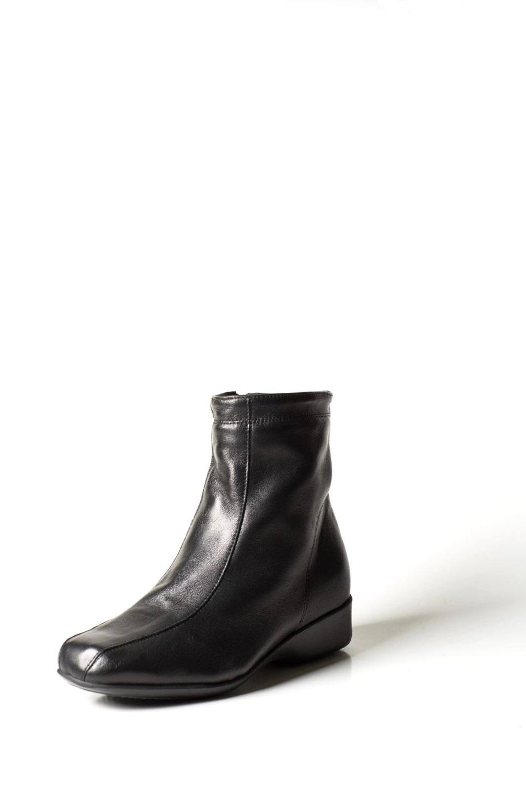 Lady Doc Black Wedge Ankle-Boot - Main Image