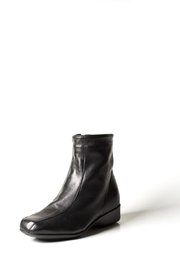 Lady Doc Black Wedge Ankle-Boot - Front cropped