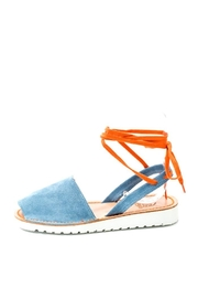 Lady Doc Blue Tie Up Sandal - Front cropped