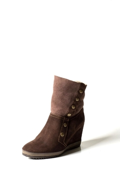 Lady Doc Chocolate Brown Wedge-Boot - Product List Image