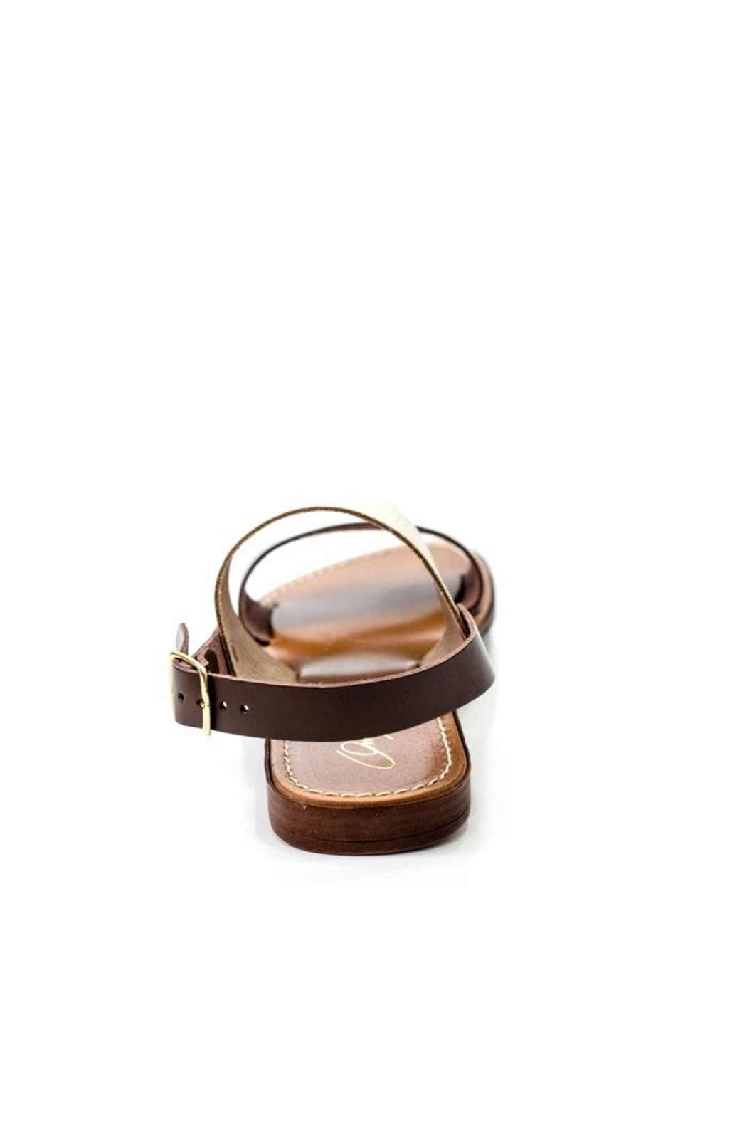 Lady Doc Double-Strap Chocolate Sandal - Side Cropped Image