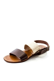 Lady Doc Double-Strap Chocolate Sandal - Front full body
