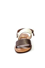 Lady Doc Double-Strap Chocolate Sandal - Back cropped