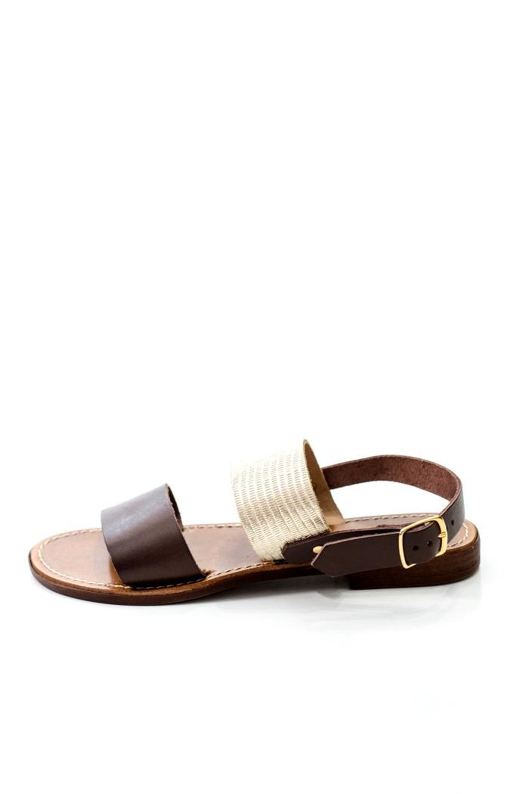 Lady Doc Double-Strap Chocolate Sandal - Main Image
