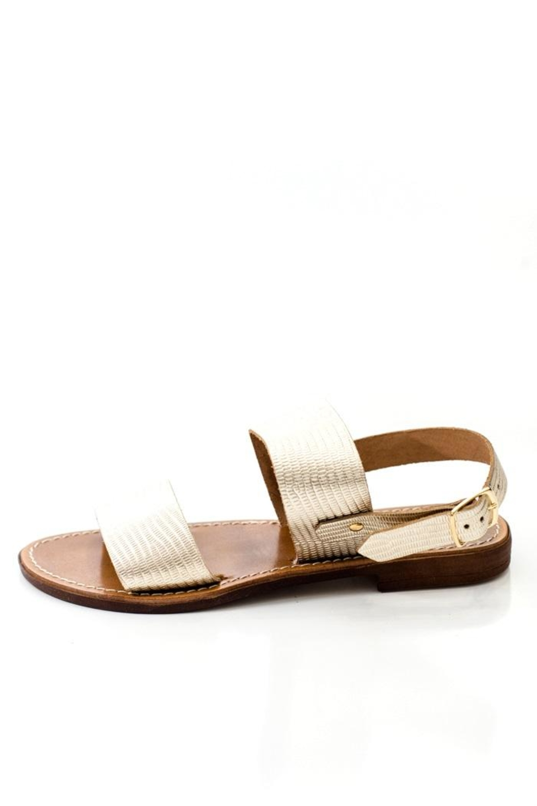 Lady Doc Double-Strap Gold Sandal - Main Image