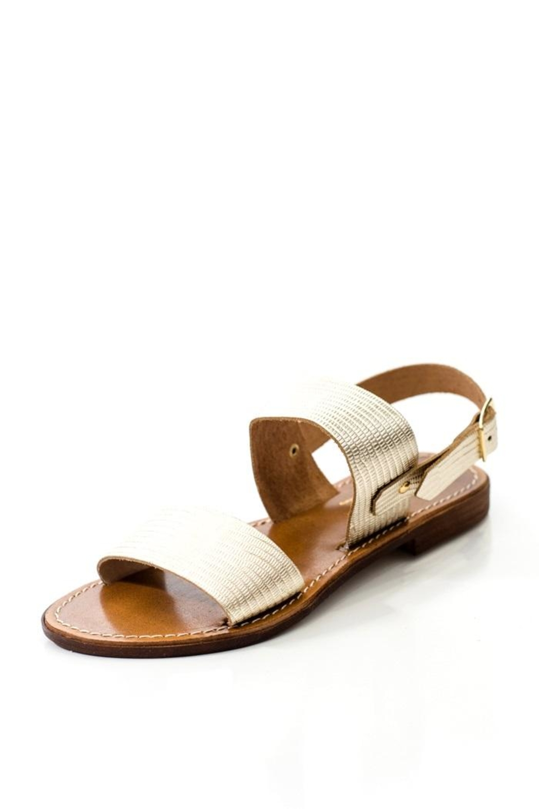 Lady Doc Double-Strap Gold Sandal - Front Full Image