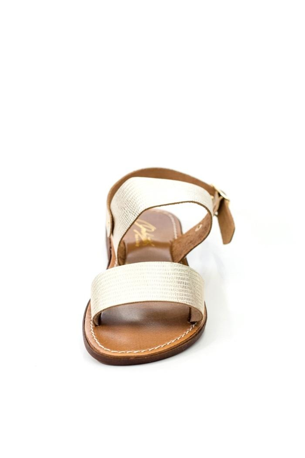 Lady Doc Double-Strap Gold Sandal - Back Cropped Image