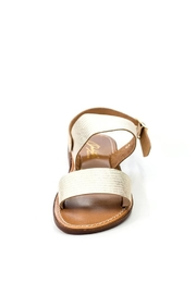 Lady Doc Double-Strap Gold Sandal - Back cropped