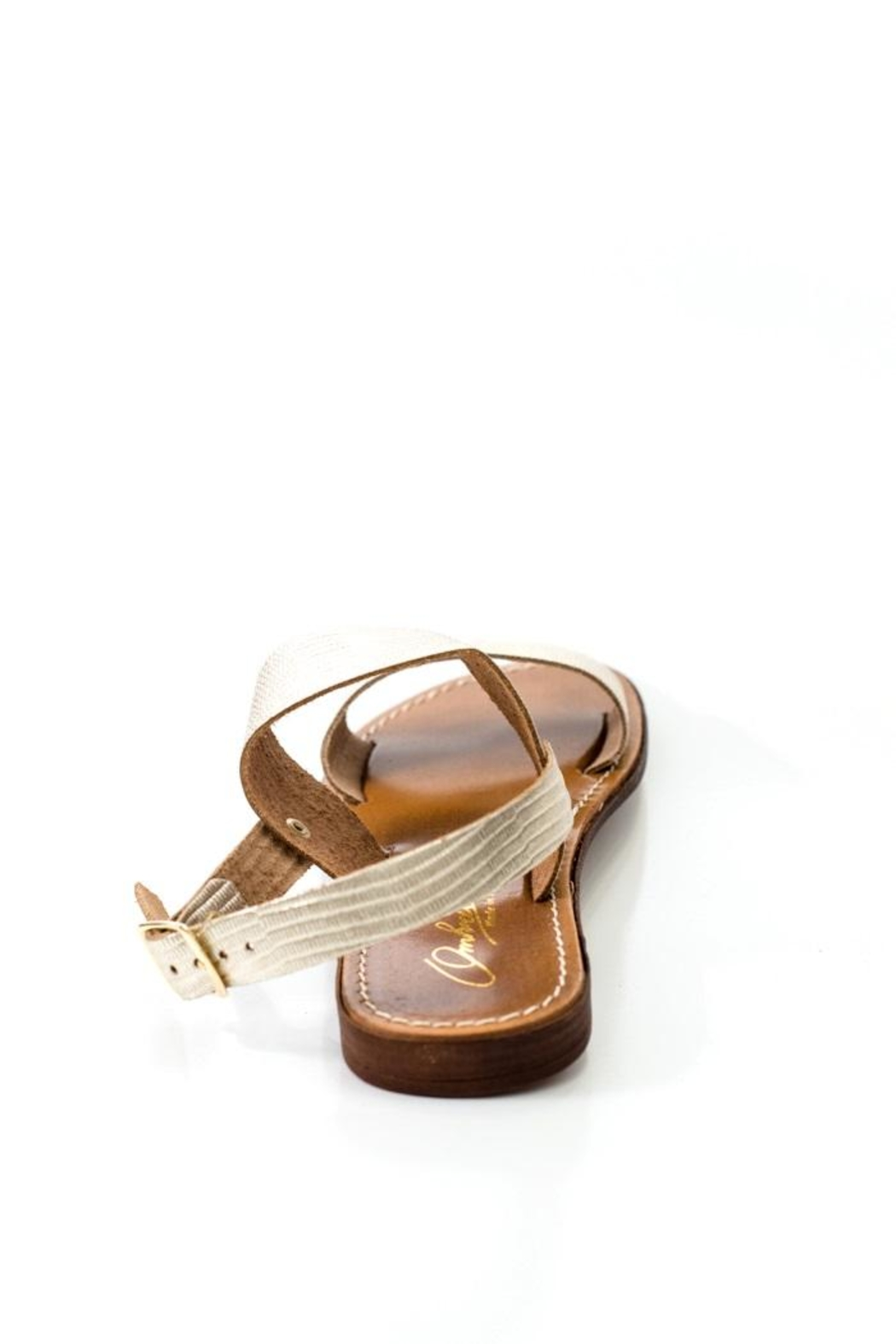 Lady Doc Double-Strap Gold Sandal - Side Cropped Image