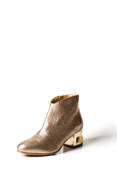 Shoptiques Product: Gold Crackle Ankle-Boot