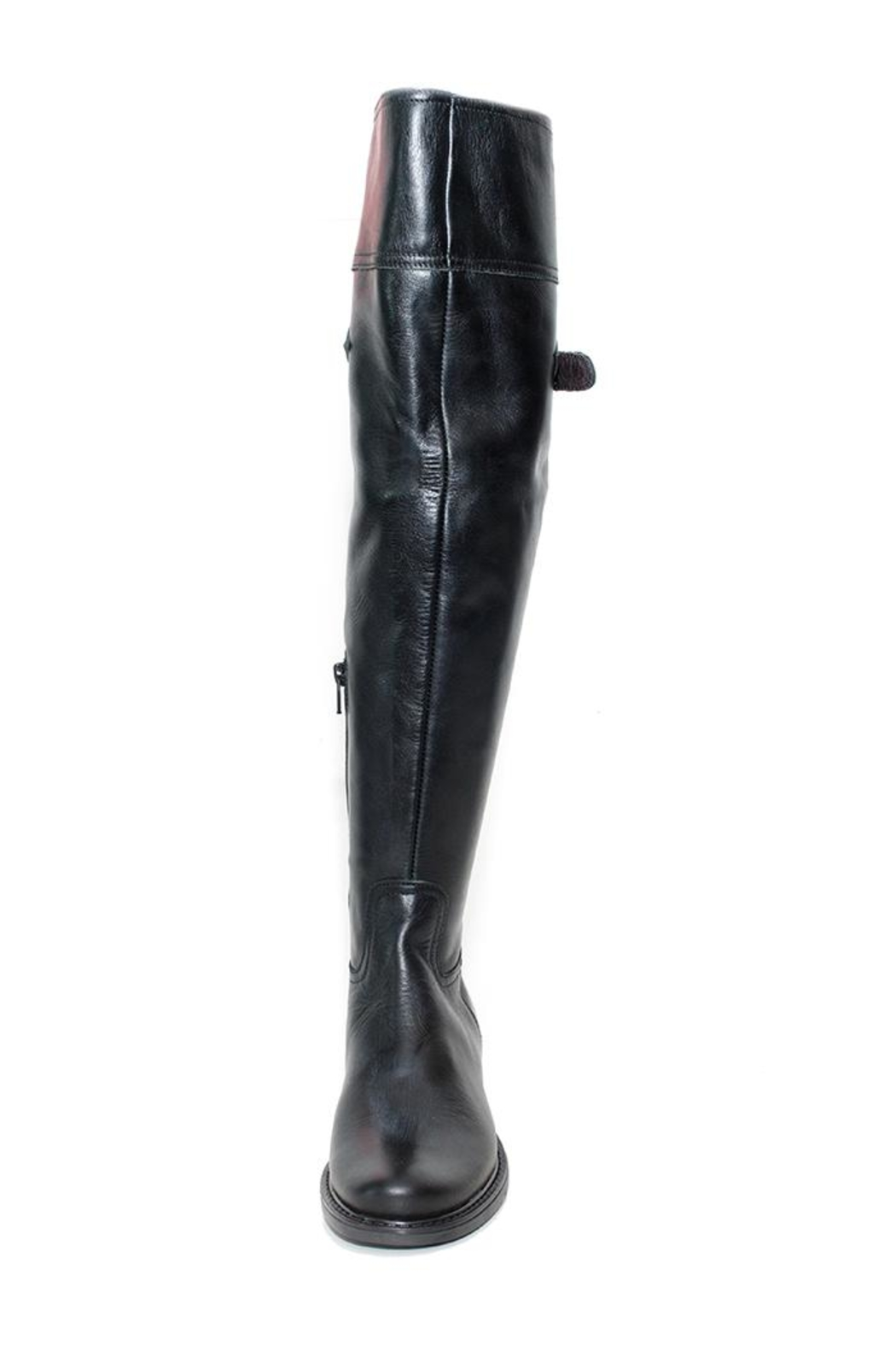 Lady Doc Knee-High Black Boot - Side Cropped Image