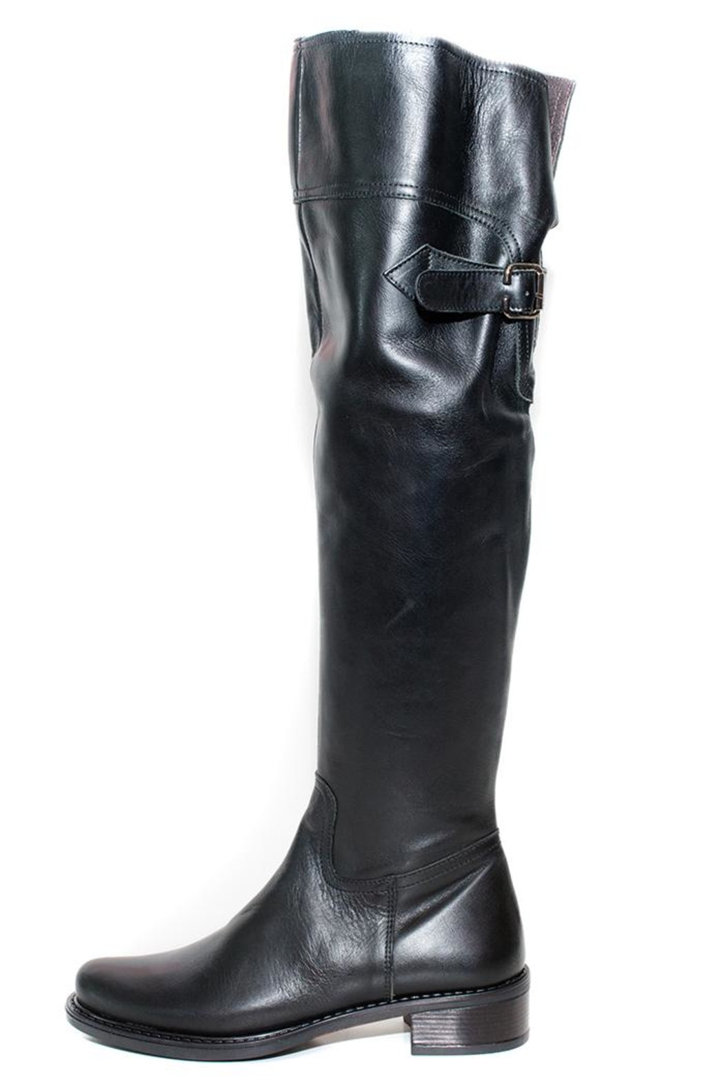 Lady Doc Knee-High Black Boot - Main Image