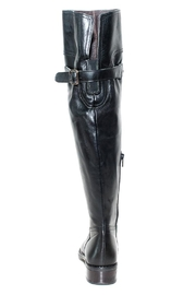 Lady Doc Knee-High Black Boot - Front full body