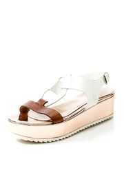 Lady Doc Leather Rose Gold Sandal - Front full body