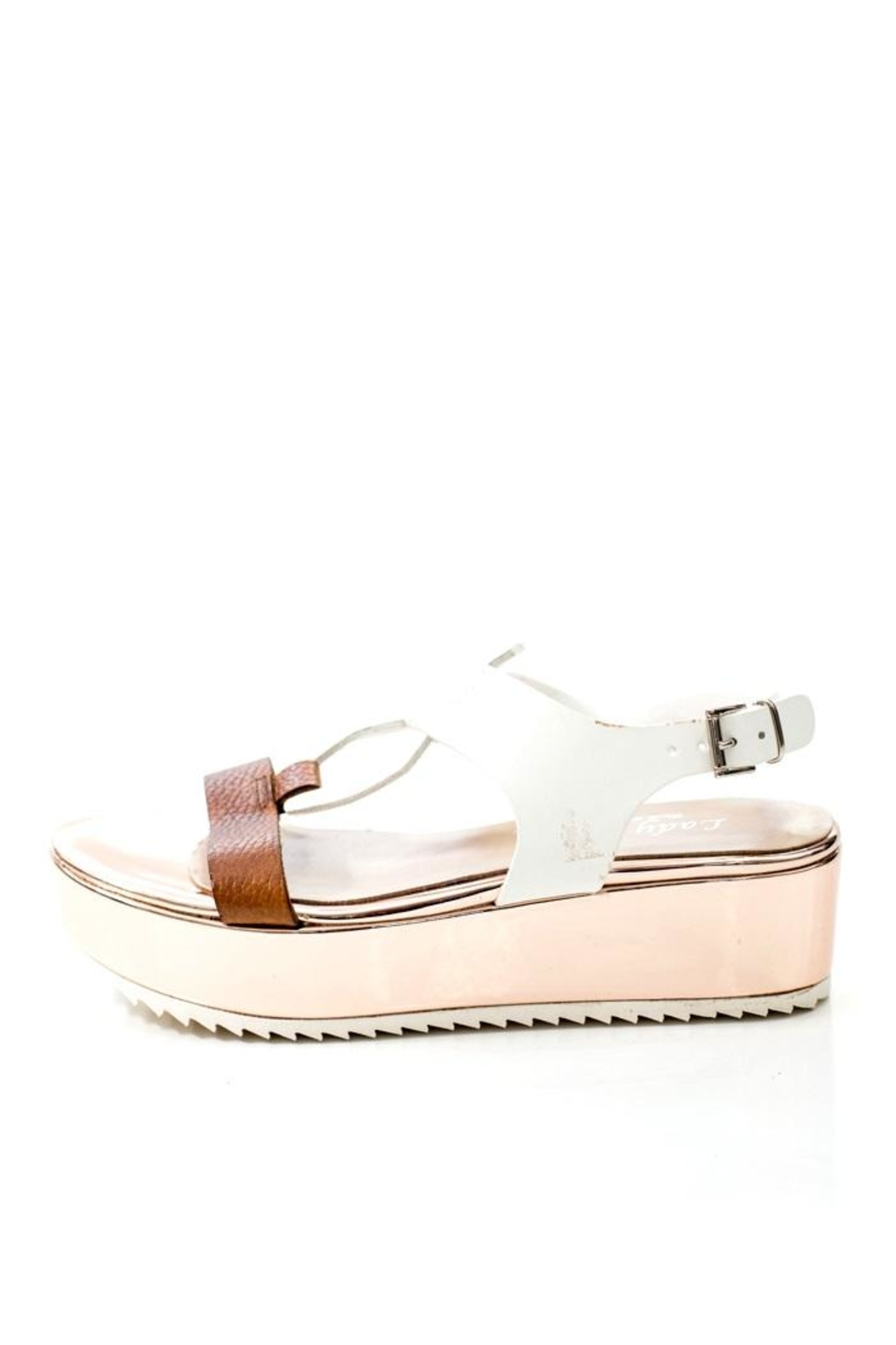 Lady Doc Leather Rose Gold Sandal - Main Image