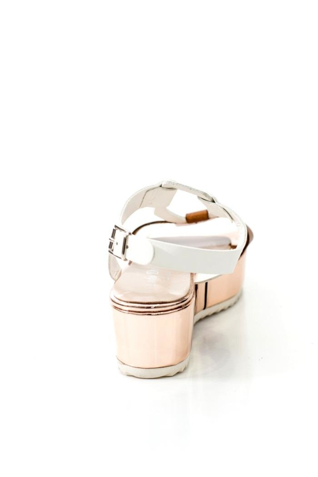 Lady Doc Leather Rose Gold Sandal - Side Cropped Image